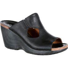 4EurSole Joyful Women's Black Leather Slide