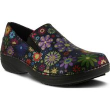 Spring Step Manila Flower Power Women's Slip-Resistant Leather Slip-On Shoe