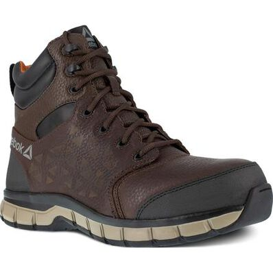 Reebok Sublite Cushion Work Men's 6 inch Composite Toe Electrical Hazard Athletic Work Shoe, , large