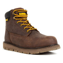 DEWALT® Flex Men's Steel Toe Brown Tie-Up Wedge Work Boots