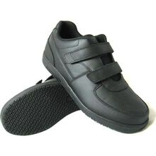 Genuine Grip Slip-Resistant Hook and Loop Closure Athletic Work Shoe